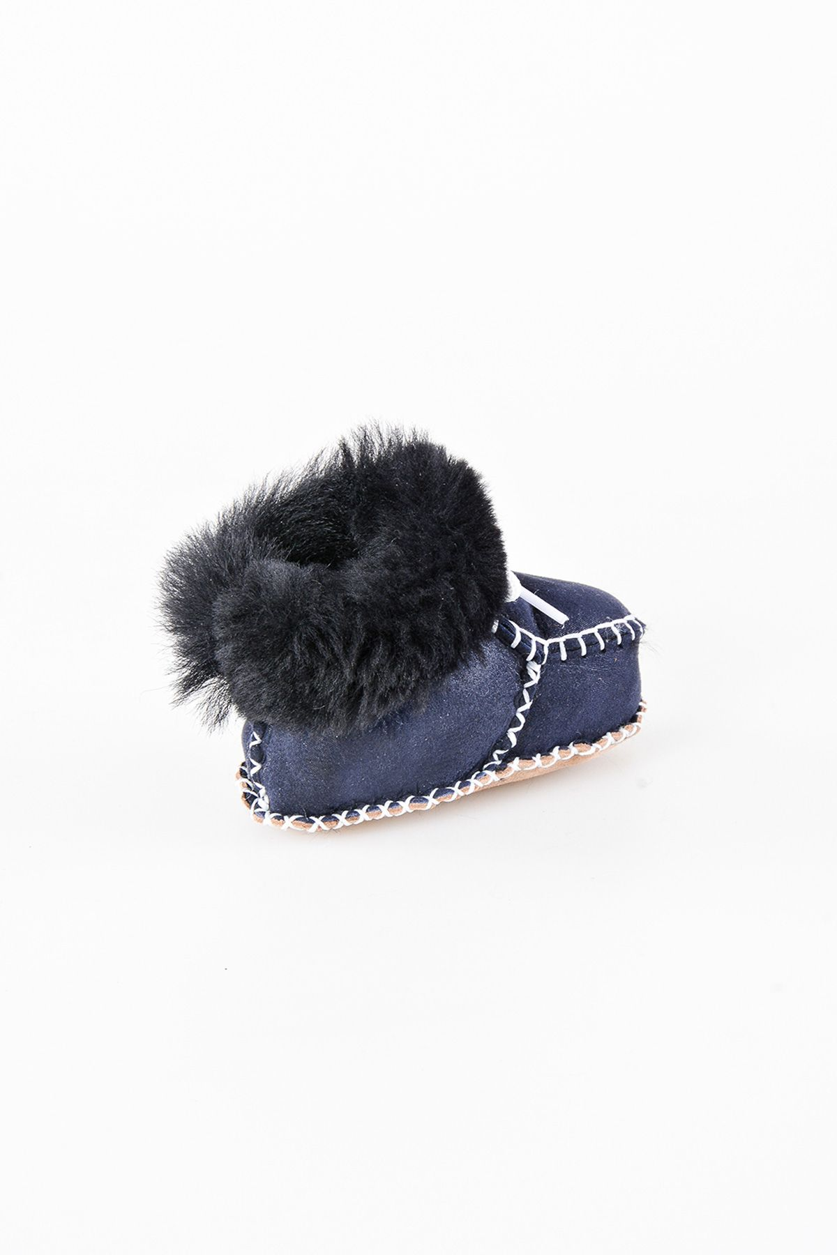 Pegia Shearling Baby's Bootie 141009 Navy blue