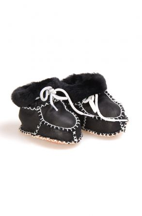 Pegia Shearling Baby's Bootie 141009 Black