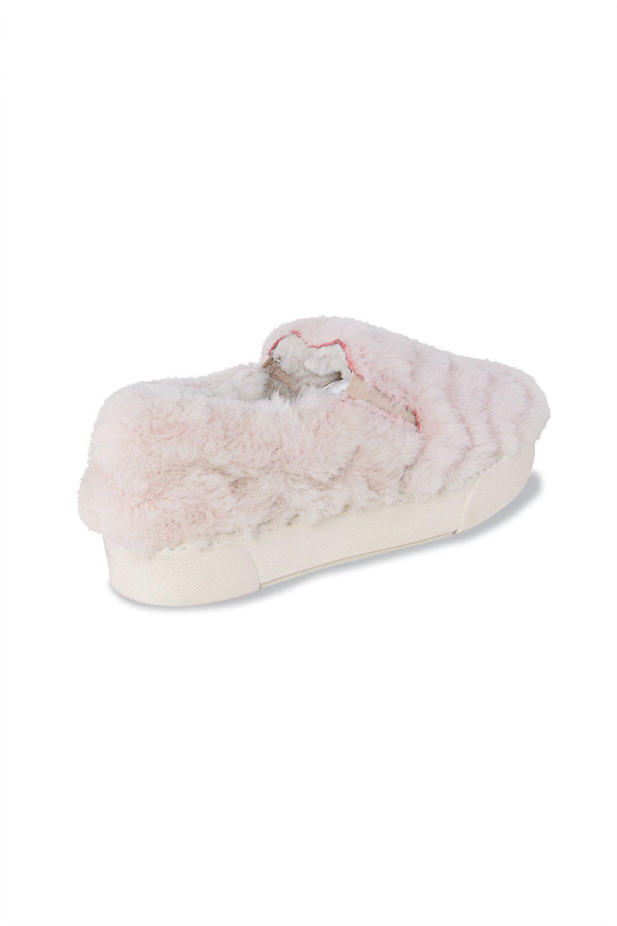 Pegia Hakiki Kürklü Bayan Sneaker 659524 Pudra