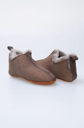 Pegia Hakiki Kürklü Çocuk Ev Ayakkabısı 880241 Brown