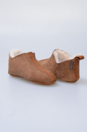 Pegia Kids Suede Sheepskin Slippers 880242 Ginger