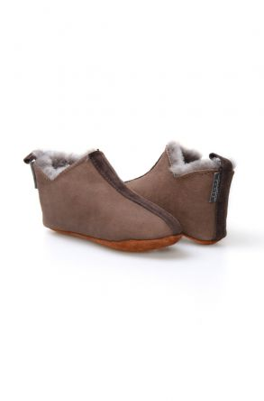 Pegia Genuine Kids Sheepskin Slippers 880251 Brown