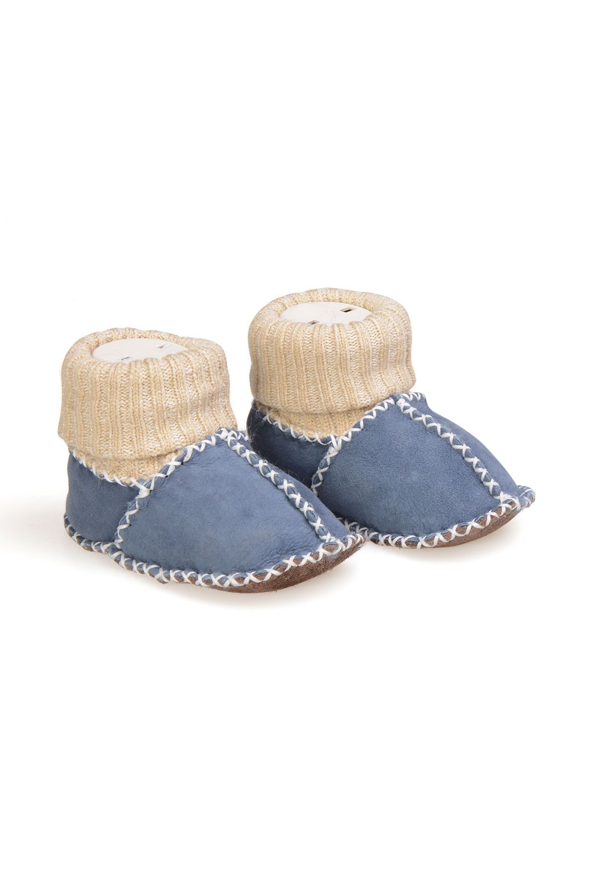 Pegia Shearling Baby's Booties With Socks 141107 Blue
