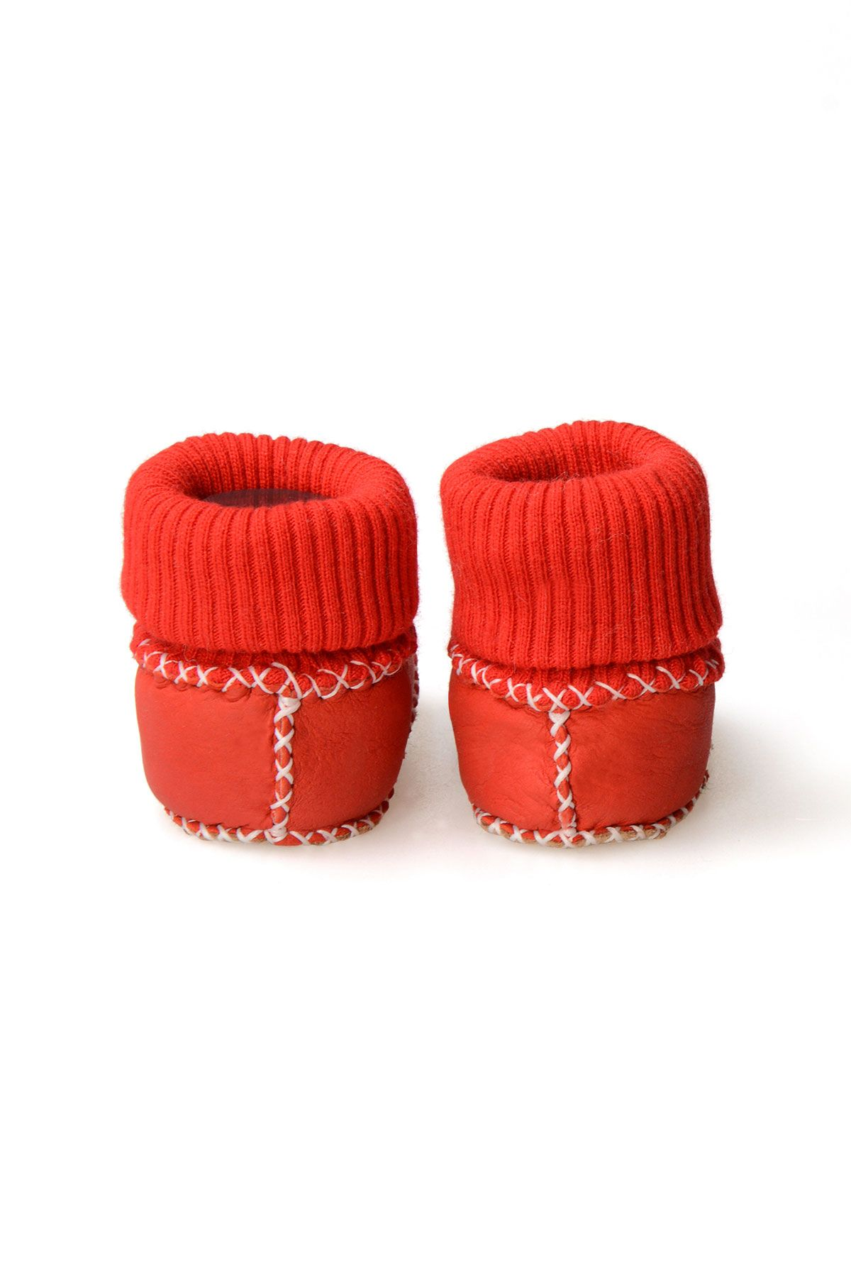 Pegia Shearling Baby's Booties With Socks 141107 Red