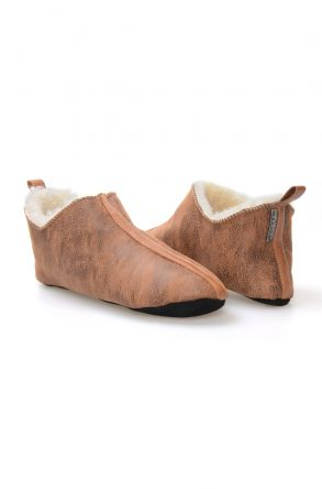 Pegia Men's Sheepskin Slippers 980497 Ginger