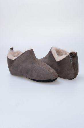 Pegia Hakiki Kürklü Erkek Ev Ayakkabısı 980498 Kahve