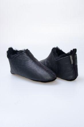 Pegia Hakiki Kürklü Erkek Ev Ayakkabısı 980499 Siyah