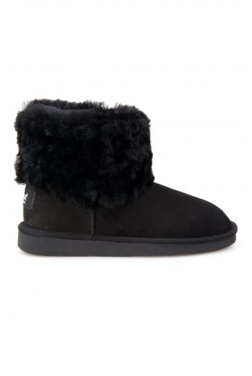 Pegia Genuine Sheepskin Women's Boots 191109 Black