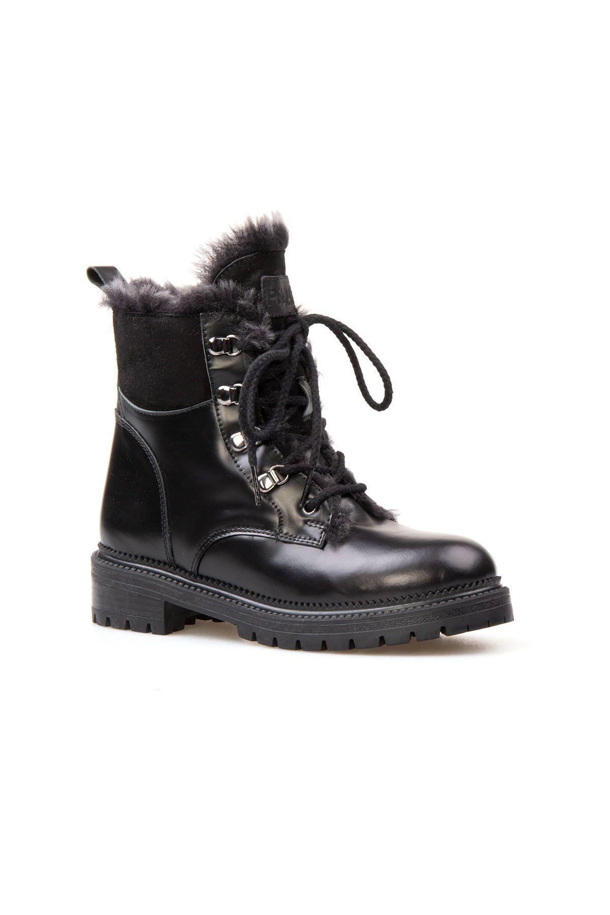 Pegia Genuine Sheepskin Women's Boots 391023 Black