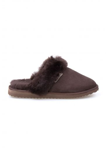 Pegia Genuine Sheepskin Women's Slippers 191105 Brown
