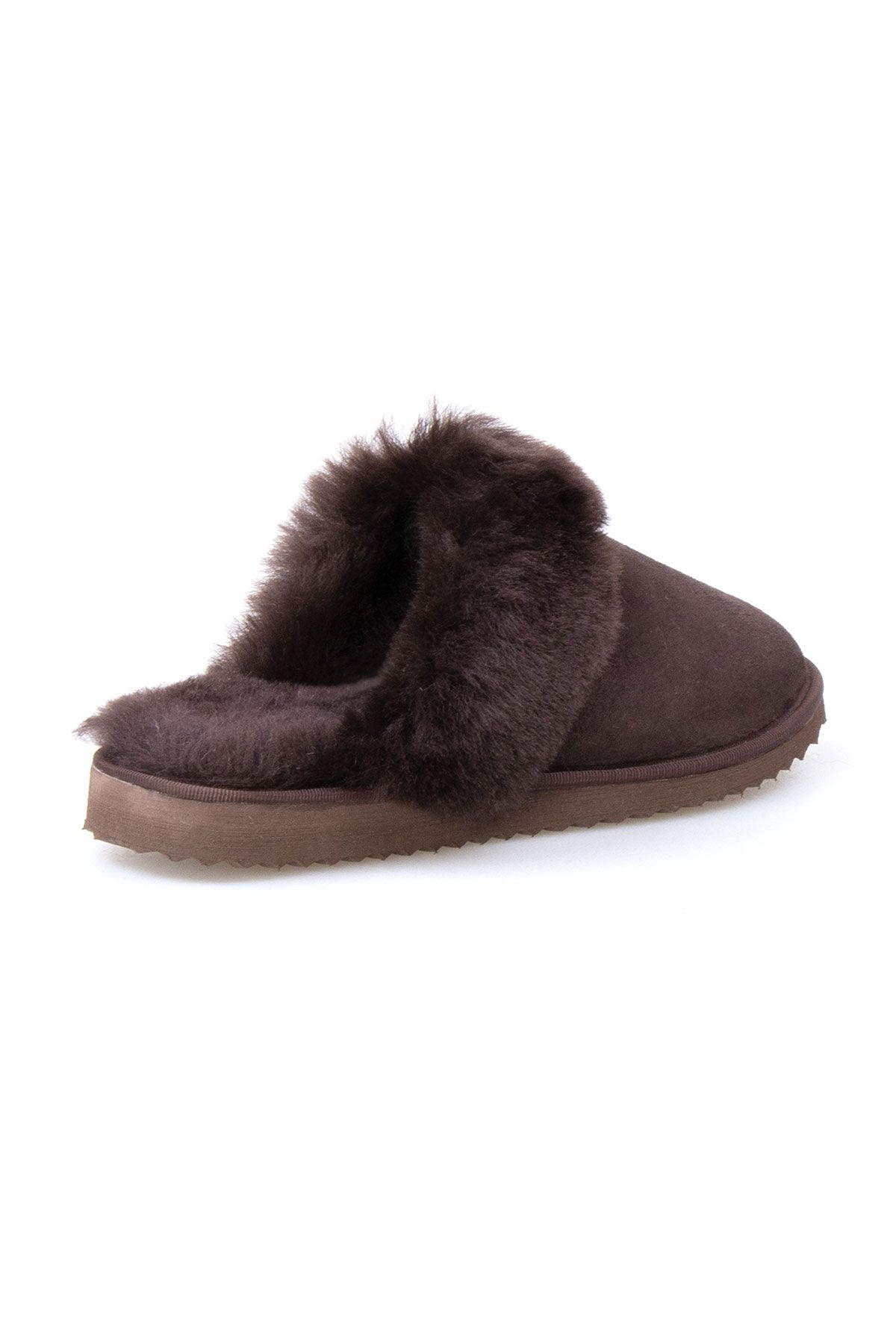 Pegia Genuine Sheepskin Women's Slippers 191105 Brown