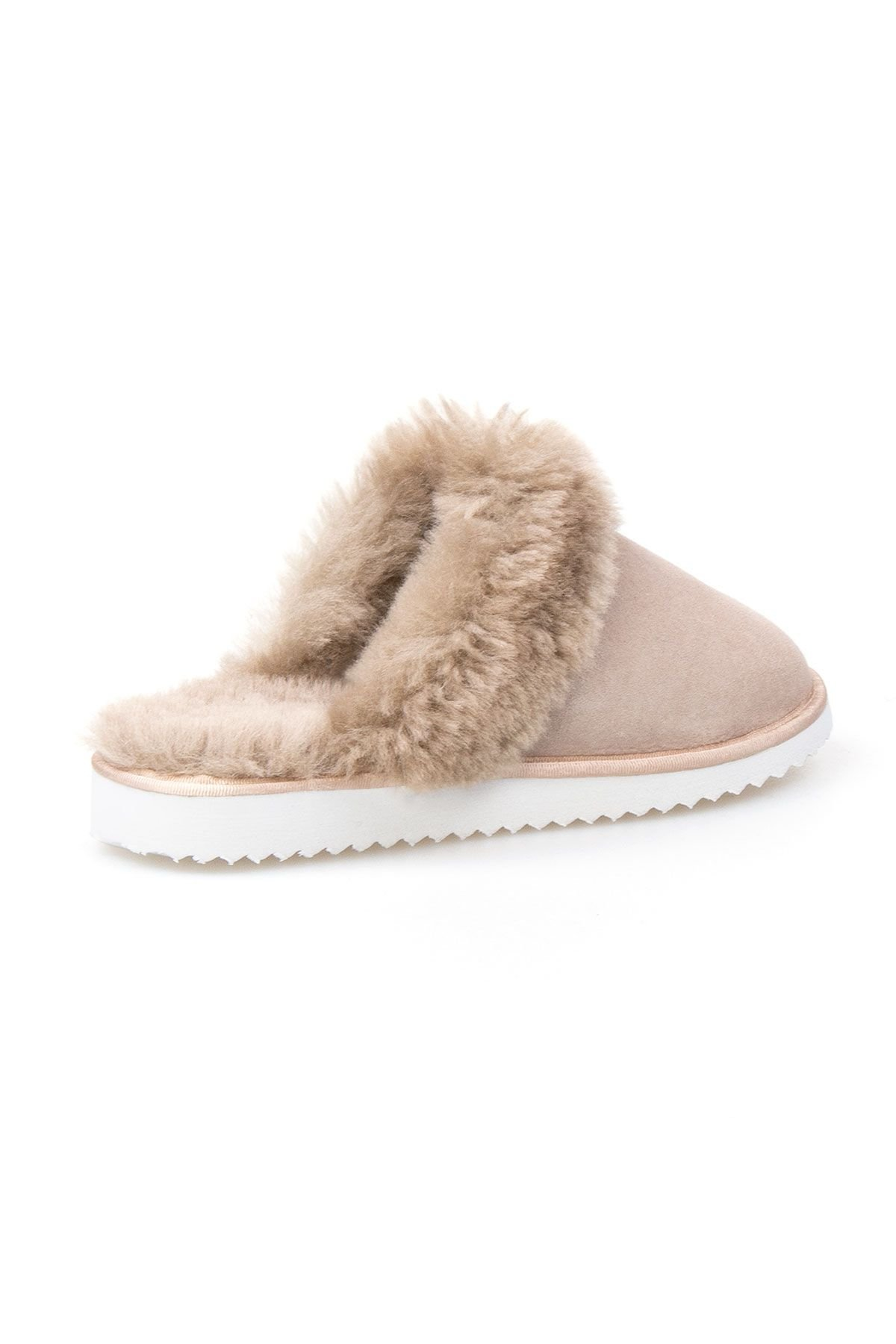 Pegia Genuine Sheepskin Women's Slippers 191105 Visone