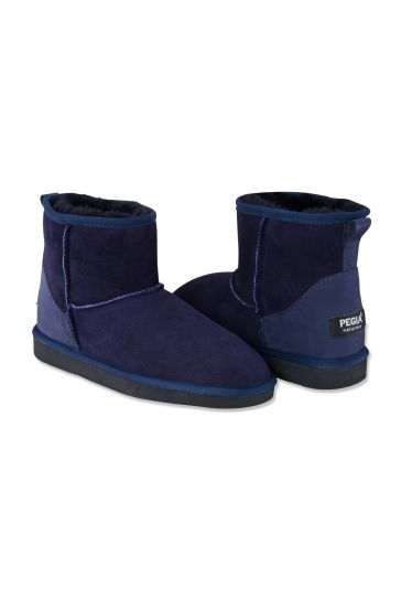 Pegia Genuine Shearling Short Classic Women's Boots 990326 Navy blue