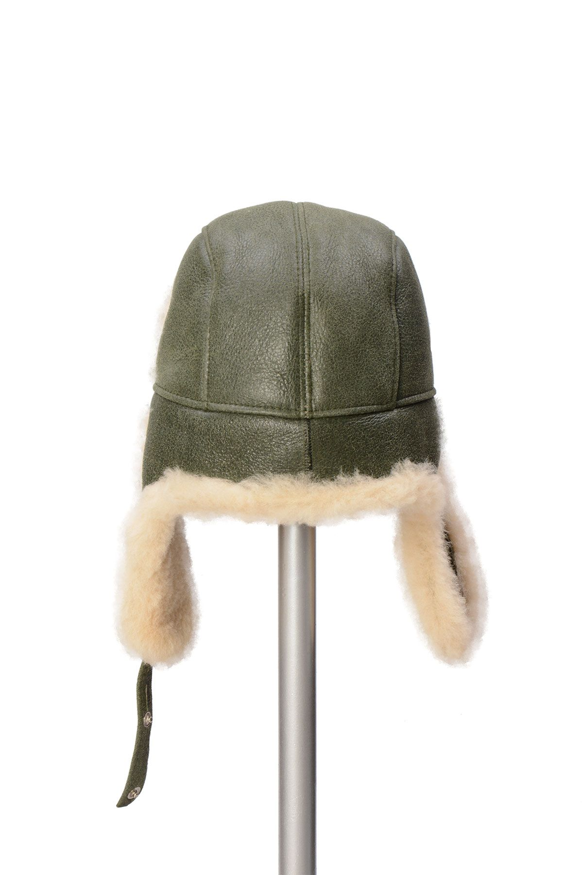 Pegia Sheepskin Pilot Hat 19SB03 Green