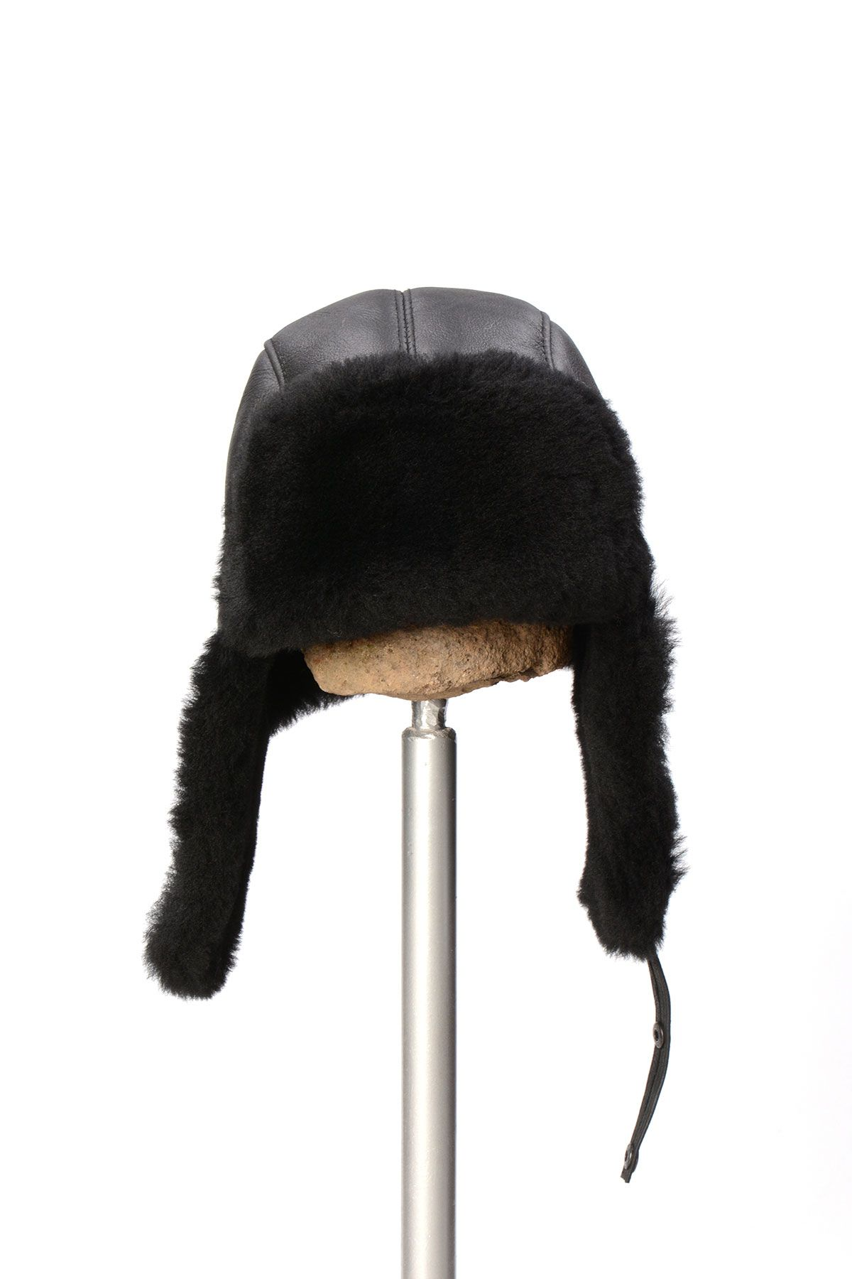 Pegia Sheepskin Pilot Hat 19SB03 Black