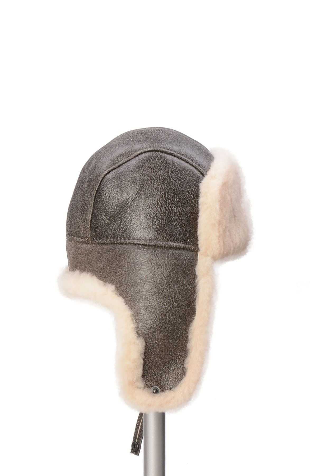 Pegia Sheepskin Pilot Hat 19SB03 Gray