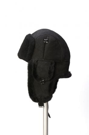 Pegia Genuine Sheepskin Hat 19SB01 Black