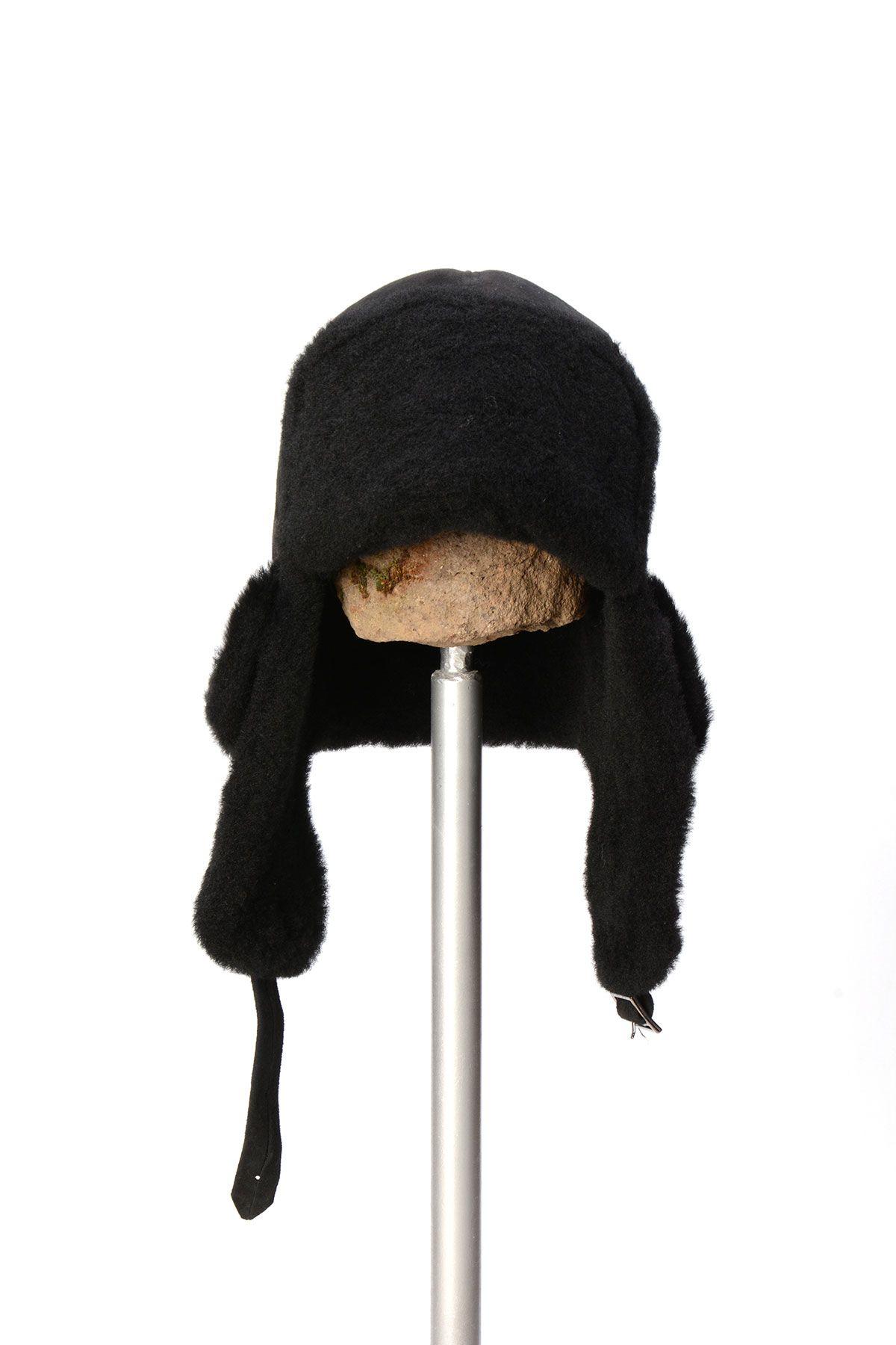Pegia Шапка из Натуральной Овчины 19SB01 Черный