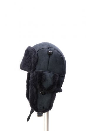 Pegia Genuine Sheepskin Hat 19SB01 Navy blue
