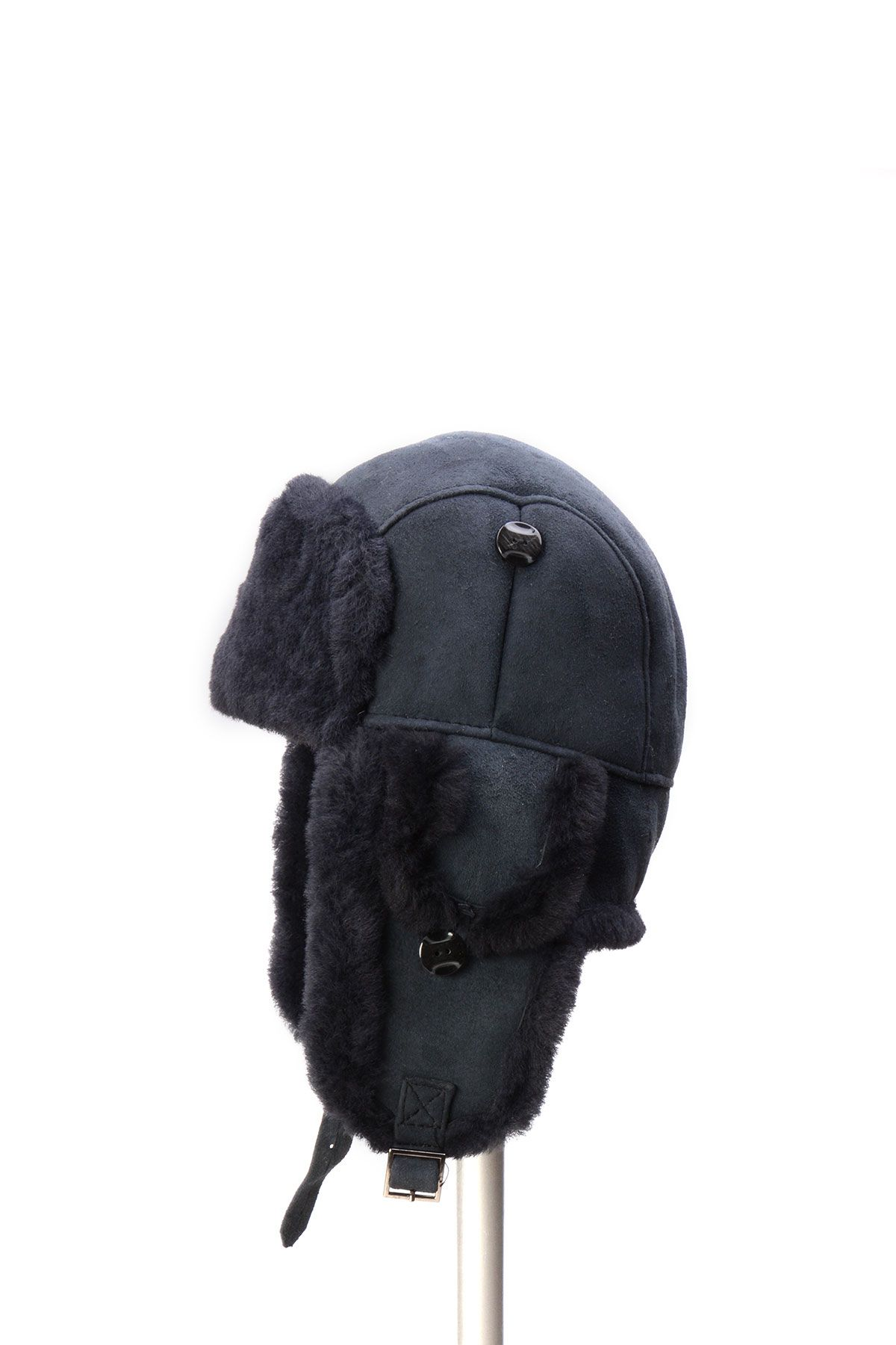 Pegia Hakiki Kürklü Şapka 19SB01 Lacivert