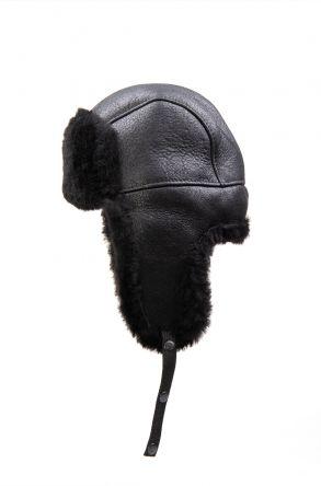 Pegia Hakiki Kürklü Şapka 19SB04 Siyah