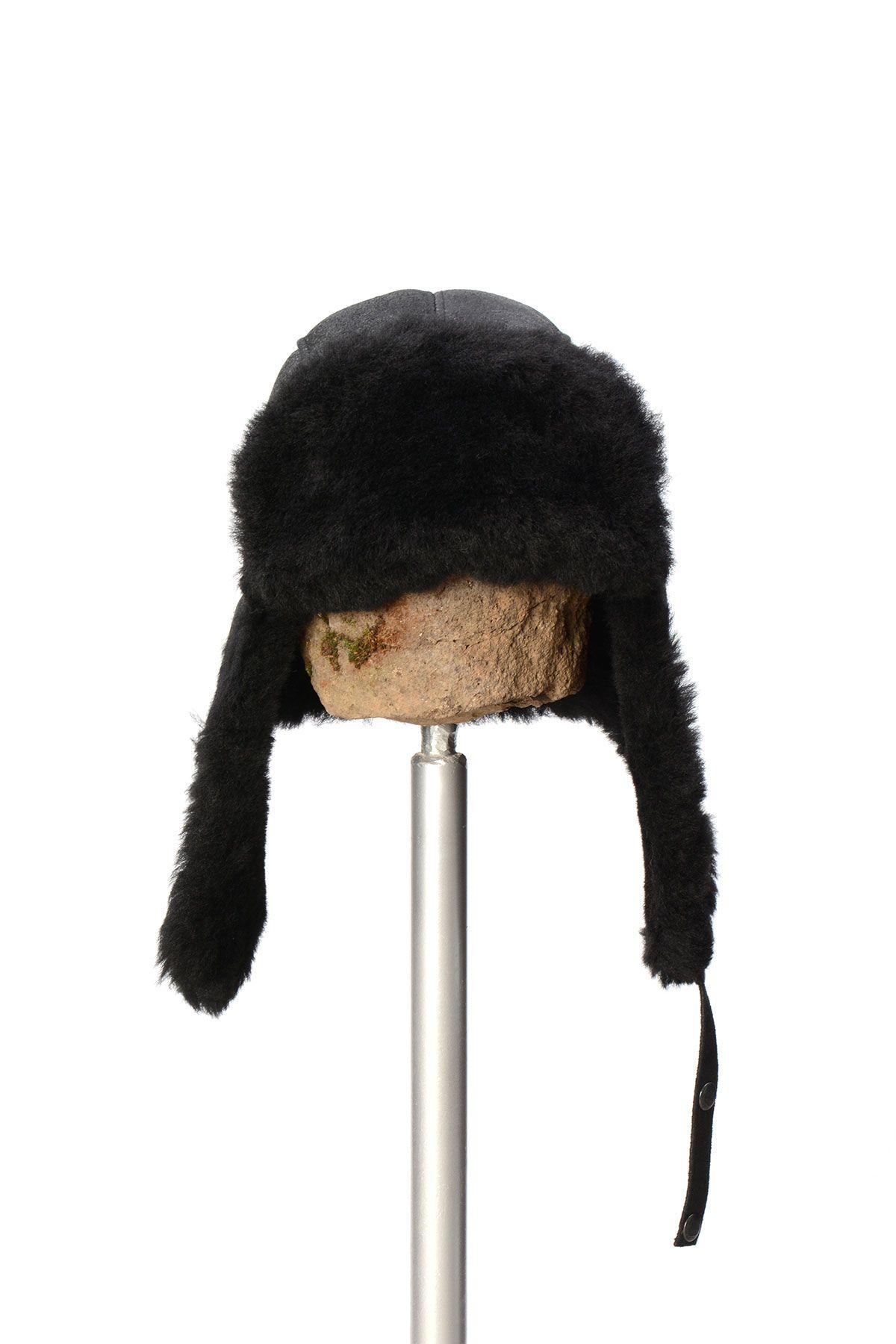 Pegia Genuine Sheepskin Hat 19SB04 Black
