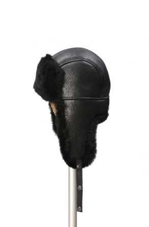 Pegia Genuine Sheepskin Hat 19SB04 Black