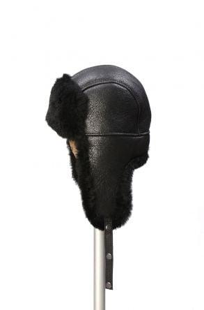 Pegia Шапка из Натуральной Овчины 19SB04 Черный