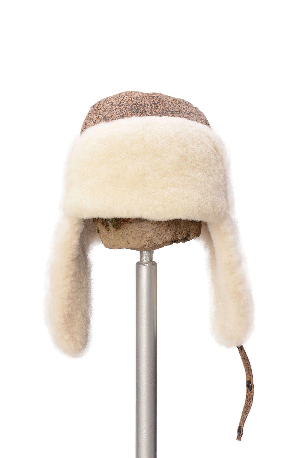 Pegia Шапка из Натуральной Овчины 19SB04 Коричневый