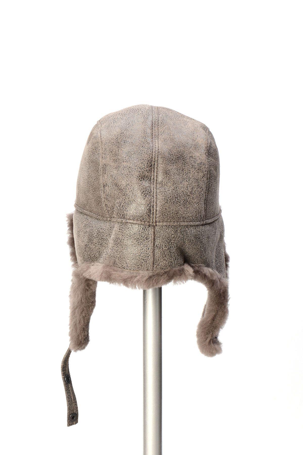 Pegia Hakiki Kürklü Şapka 19SB04 Gri