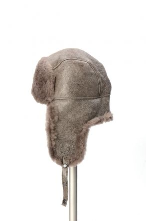 Pegia Genuine Sheepskin Hat 19SB04 Gray