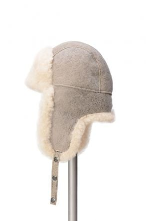 Pegia Genuine Sheepskin Hat 19SB04 Beige
