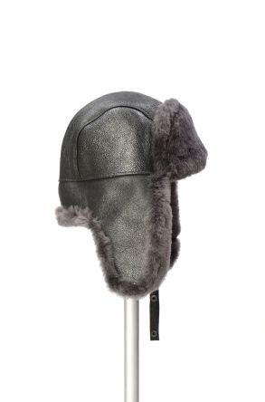 Pegia Hakiki Kürklü Şapka 19SB04 Antrasit
