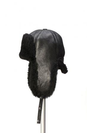 Pegia Шапка из Натуральной Овчины 19SB05 Черный