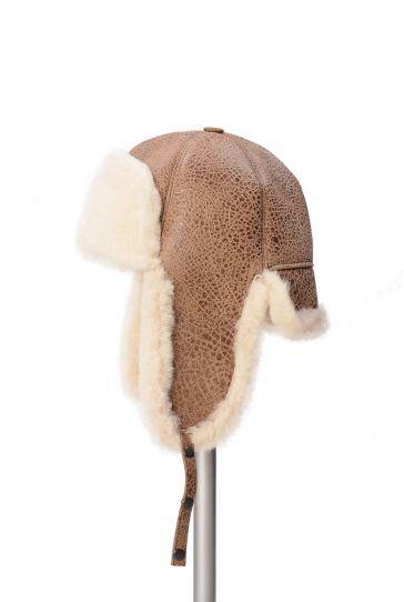 Pegia Hakiki Kürklü Şapka 19SB05 Kahve