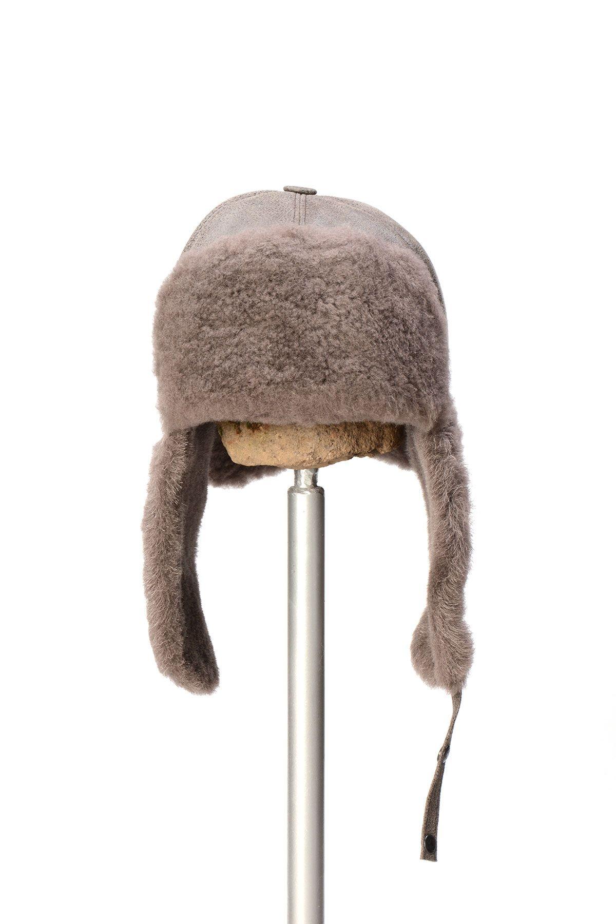 Pegia Genuine Sheepskin Hat 19SB05 Gray