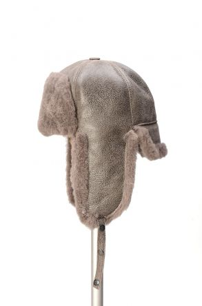Pegia Genuine Sheepskin Hat 19SB05 Gray