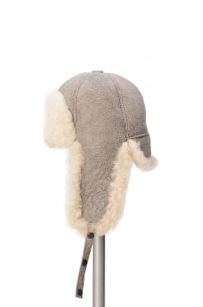 Pegia Genuine Sheepskin Hat 19SB05 Beige