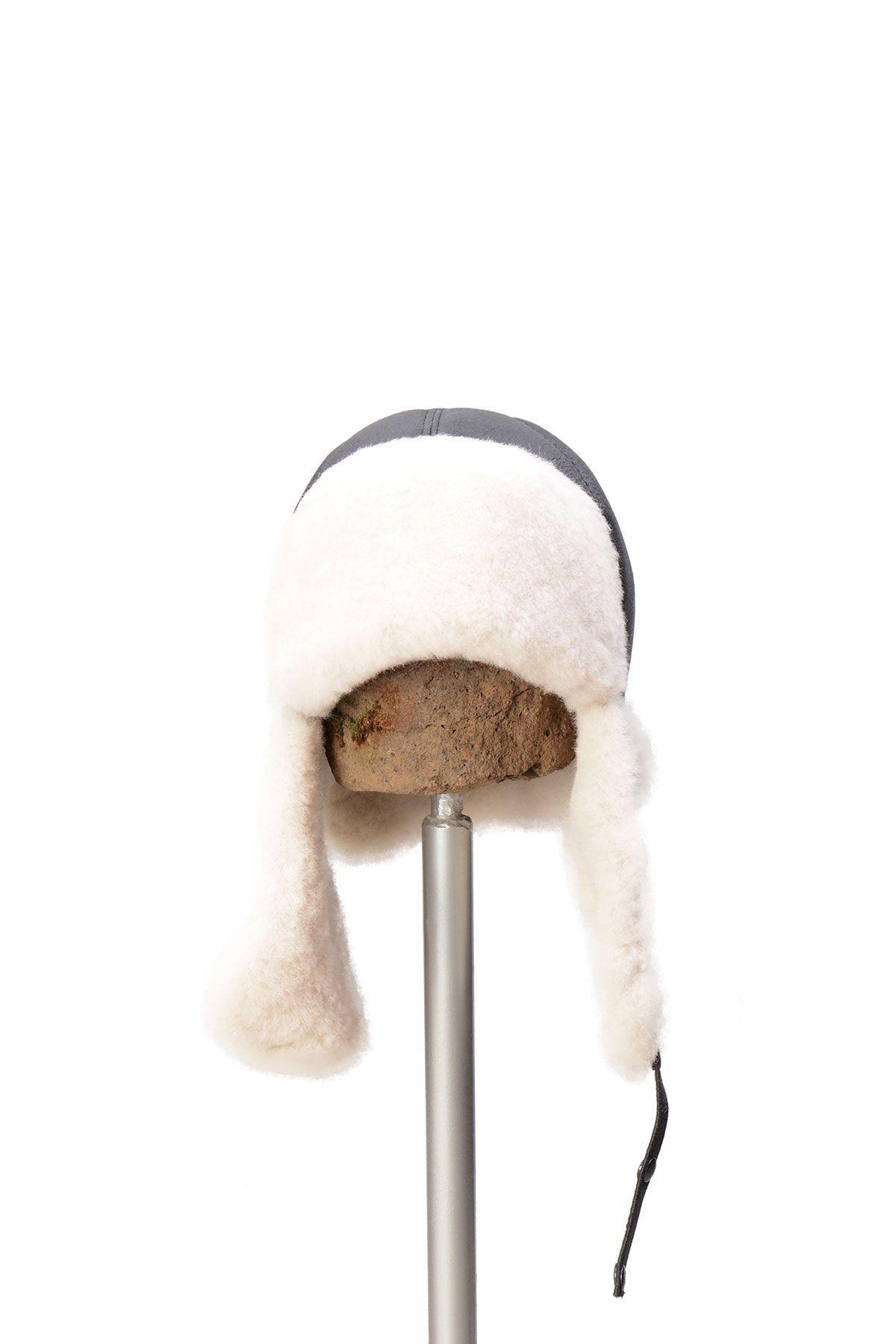 Pegia Genuine Sheepskin Hat 19SB06 Black