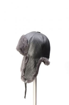 Pegia Genuine Sheepskin Hat 19SB06 Gray