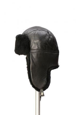 Pegia Hakiki Kürklü Şapka 19SB07 Siyah