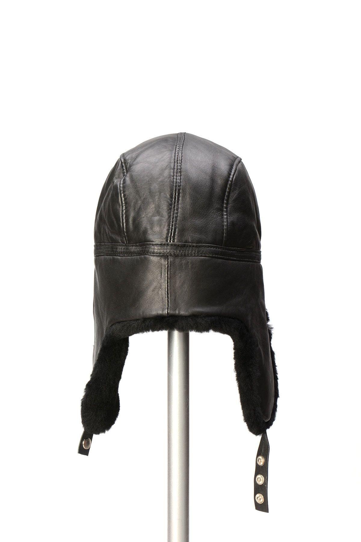 Pegia Genuine Sheepskin Hat 19SB07 Black