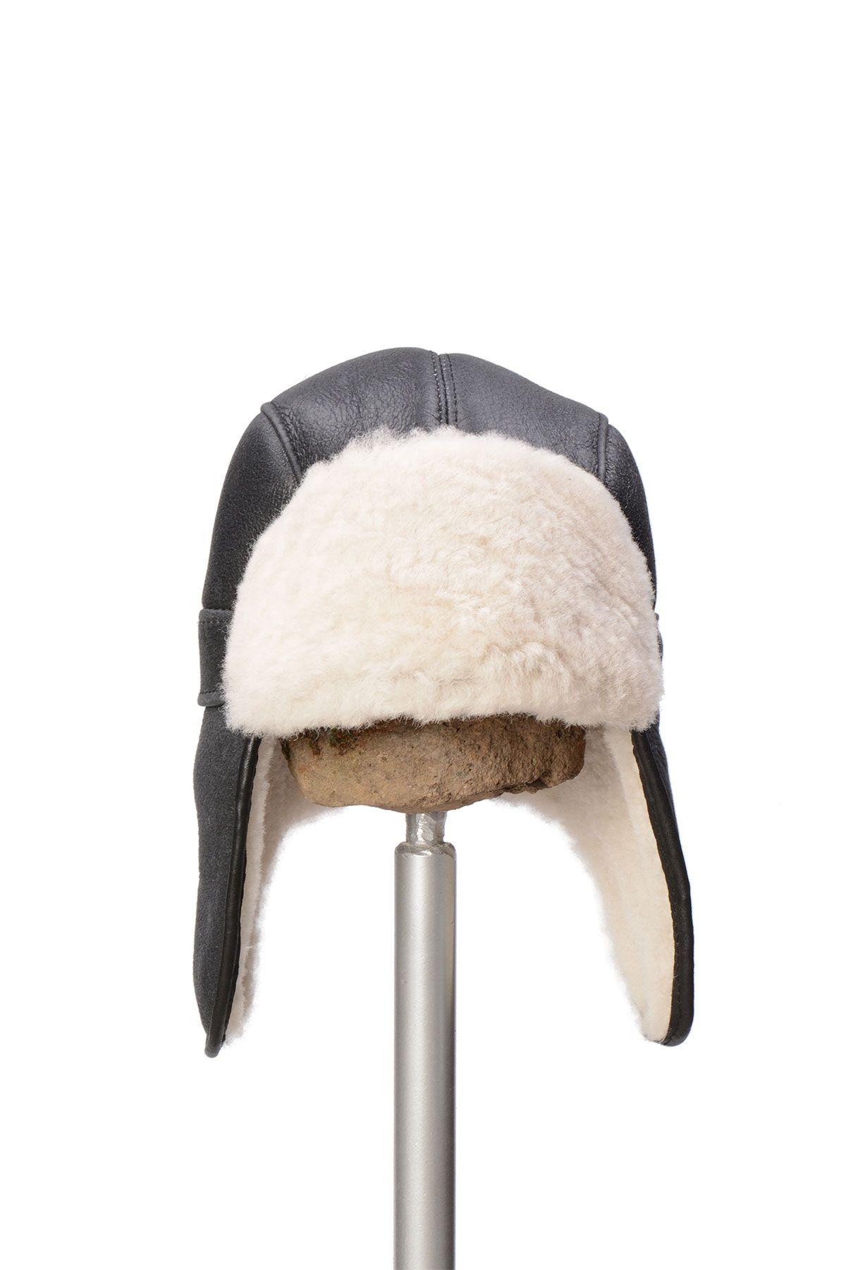 Pegia Genuine Sheepskin Hat 19SB08 Black