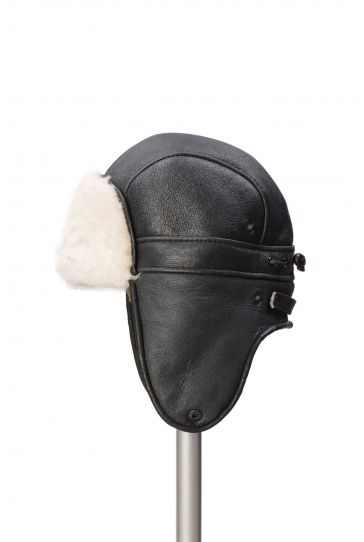 Pegia Hakiki Kürklü Şapka 19SB08 Siyah