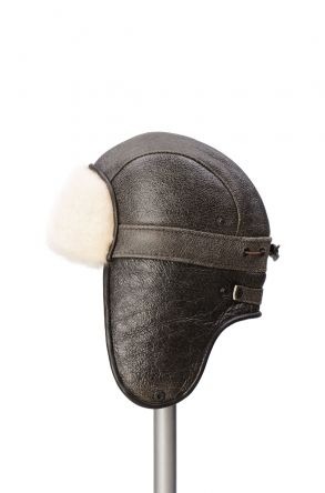 Pegia Genuine Sheepskin Hat 19SB08 Brown