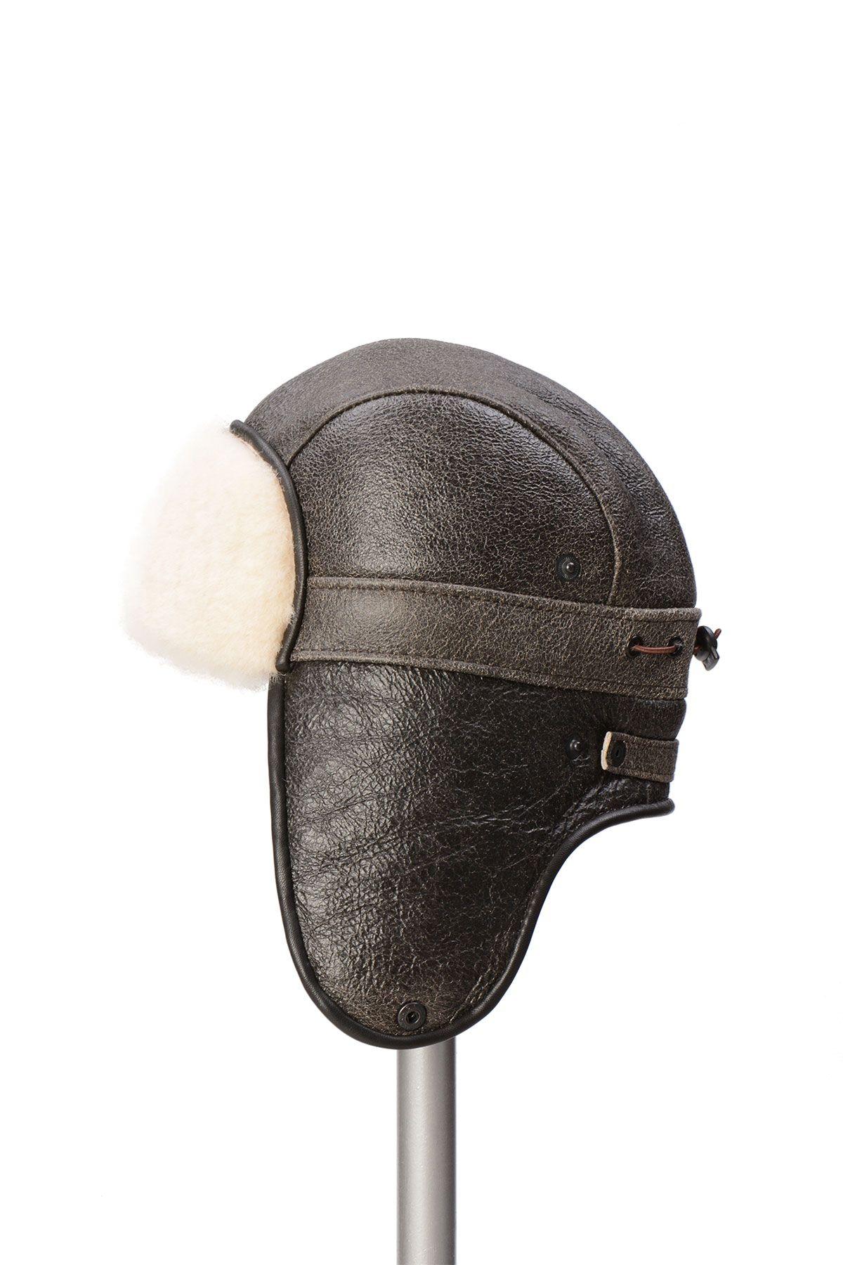 Pegia Genuine Sheepskin Hat 19SB08 Brown