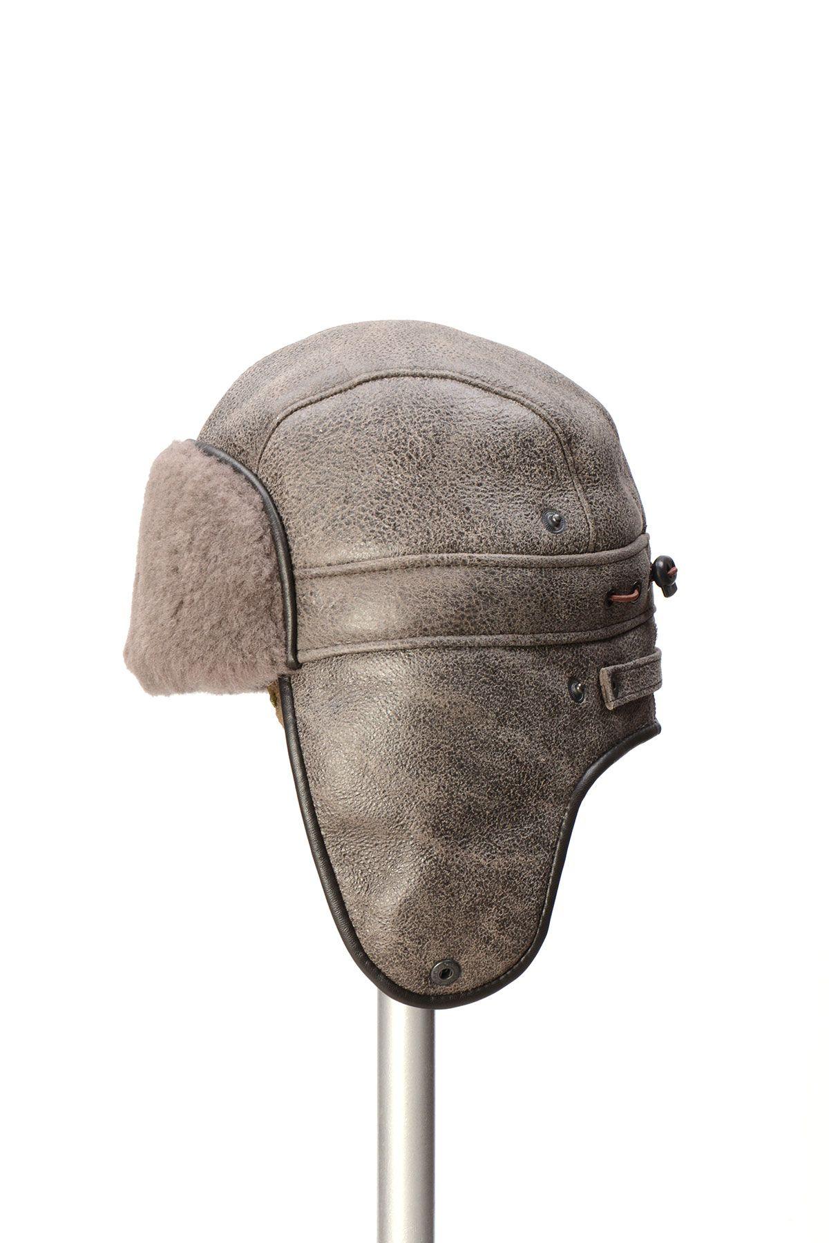 Pegia Genuine Sheepskin Hat 19SB08 Gray