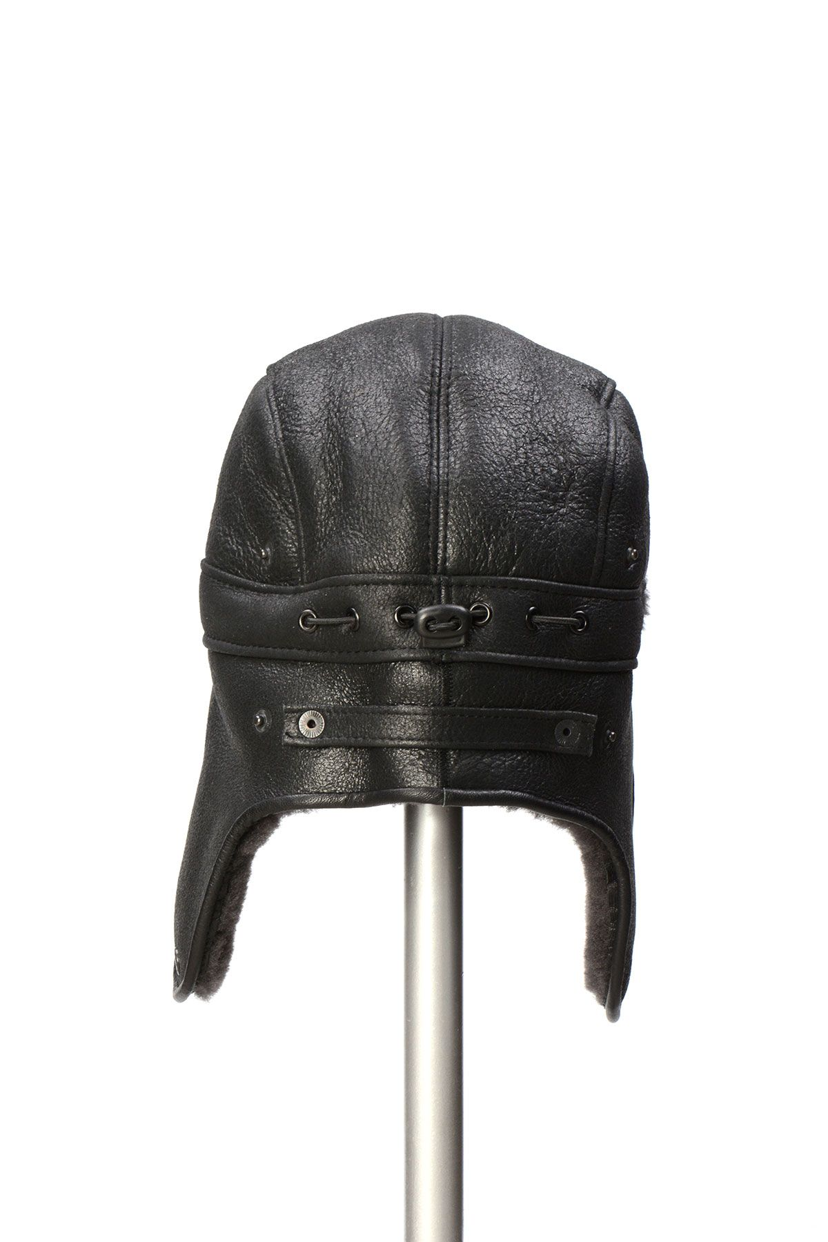 Pegia Genuine Sheepskin Hat 19SB08 Anthracite-colored