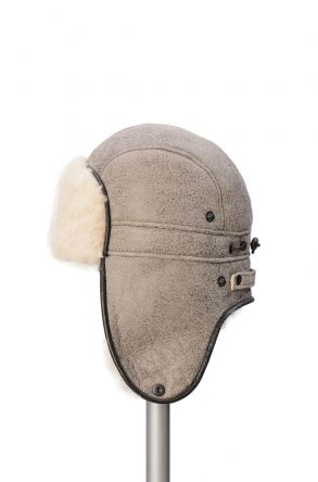 Pegia Genuine Sheepskin Hat 19SB08 Beige