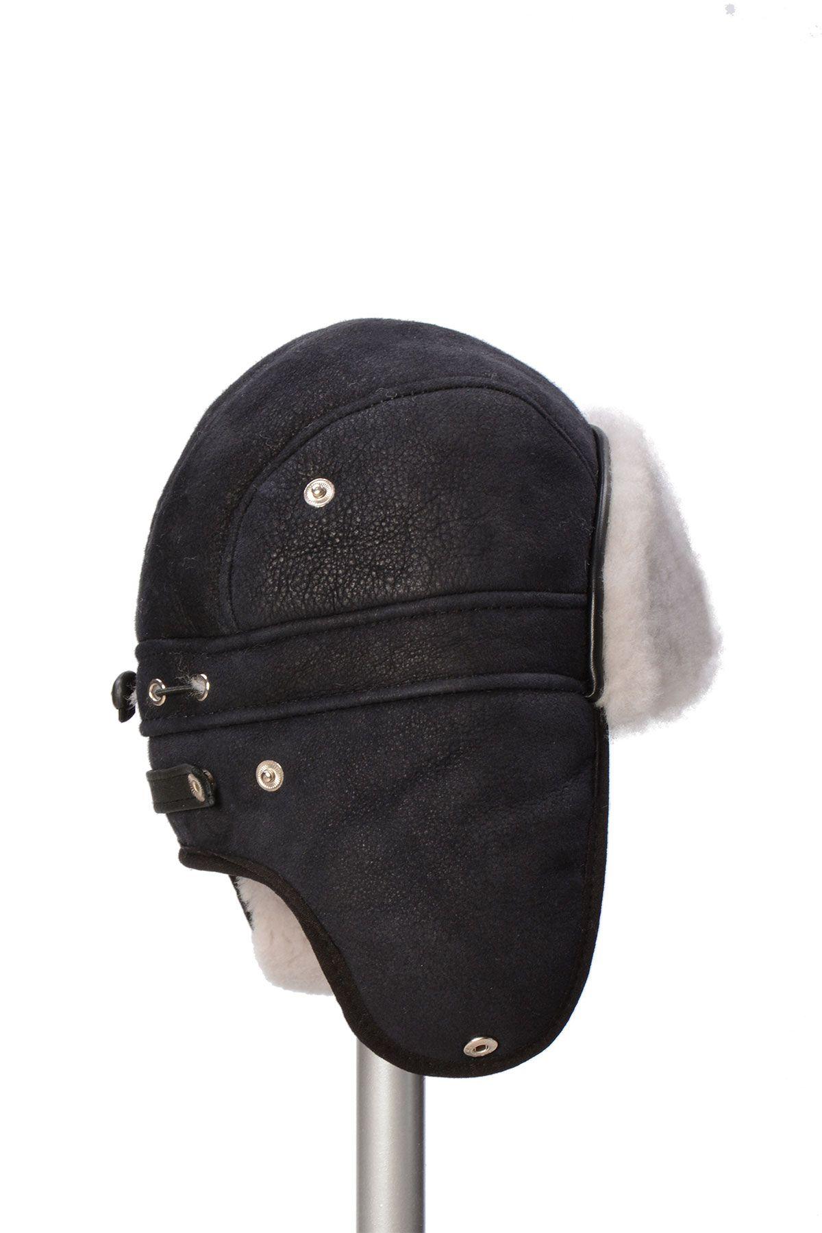 Pegia Genuine Sheepskin Hat 19SB09 Black